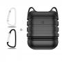 \'Dropproof\'силиконов калъф за слушалки Apple AirPods + ключодържател