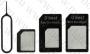 КОМПЛЕКТ СИМ АДАПТЕРИ (Nano SIM към Micro SIM и Standart, Micro SIM към Normal SIM)