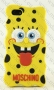 Apple iPhone 4/4s (силиконов калъф) 'Spongebob style'