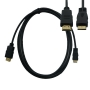 Kabel Mini HDMI Male / HDMI Male Gold (1.5М/1.8M)