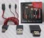 MHL Кабел micro USB + USB към HDMI + Micro USB (женско) 2 м. за Samsung Galaxy i9300 и i9500 NoteII