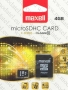 Micro SDHC card   Adapter (4GB class 10) MAXELL