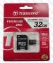 Micro SDHC card   Adapter (32GB class 10) Transcend Premium 200x