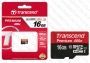 Micro SDHC card (16GB class 10) Transcend Premium 400x без SD Adapter