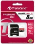 Micro SDHC card + Adapter (8GB class 10) Transcend Premium 400x