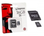 Micro SDHC card   Adapter (16GB class 10) Kingston Speed read 80 MB/s
