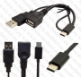 OTG USB кабел (Женски) към Type C (Мъжки)   ЗАХРАНВАЩО СТАНДАРТНО МЪЖКО USB