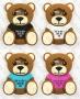 Samsung Galaxy J7 2016 SM-J710 (силиконов калъф) 'Teddy Bear'