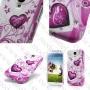 Samsung Galaxy S4 I9500 (калъф пластик) 'Hearts style'