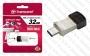 USB 3.1 + Type C Flash Drive (Флашка) (32GB сив) Transcend JetFlash 890S
