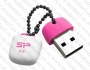 USB Flash Drive (Флашка) (8GB бяла с розово) SP Silicon Power Touch T07