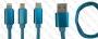 Кабел 8 pin към Usb Micro USB  Type C 'SOUFFLE Fast Charging'