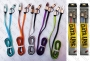 Плосък Micro USB / USB data кабел + 8pin с метални конектори 'Transformers style'