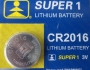 Батерия за часовник Super1/Sony/GP CR2016 (3v)