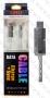 Универсален светещ Micro USB / USB data кабел с метални конектори 'Samsung logo'