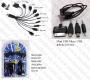 Комплект USB зарядни + универсален кабел с различни накрайници