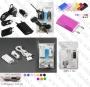 Комплект  зарядни за 12V+ 220V+кабел за iPhone+Micro & Mini USB